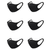 Unisex Face Mask Dust Mask Anti Air Pollution Dust Mask Unisex Mouth Mask,Washable and Reusable Black Cotton Face Mask 6Pcs Blac