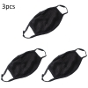 3PCS Anti-dust Mouth Masks Washable Reusable Cotton Face Mask Respirator Black Mouth-muffle Dustproof Face Cover