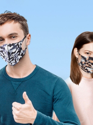 3Pcs Face Mask Washable Reusable Anti-dust Mouth Face Masks Camouflage Sponge Mask Anti Cold Mask Humanized Design