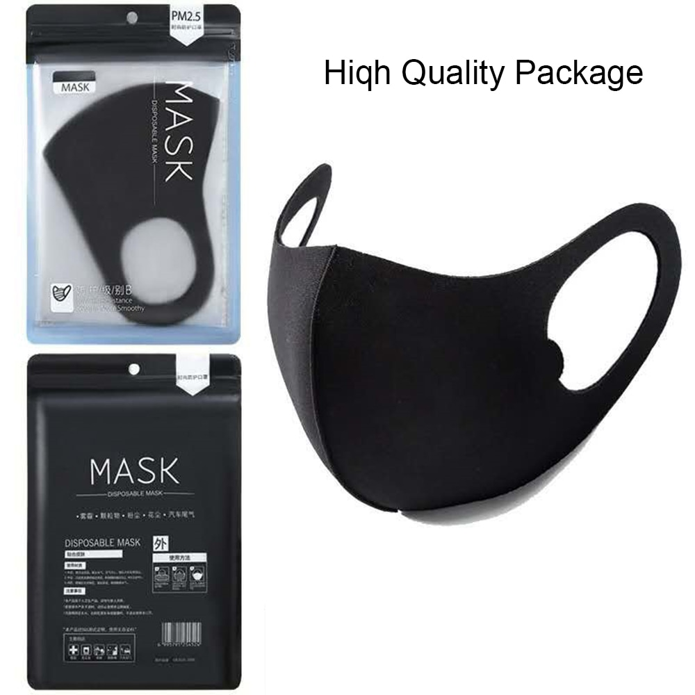 Cotton Face Masks Anti Pollution PM2.5 Anti-dust Masks Breathable Unisex for Children Kids Adults Mouth Cover Washable Reusable 2