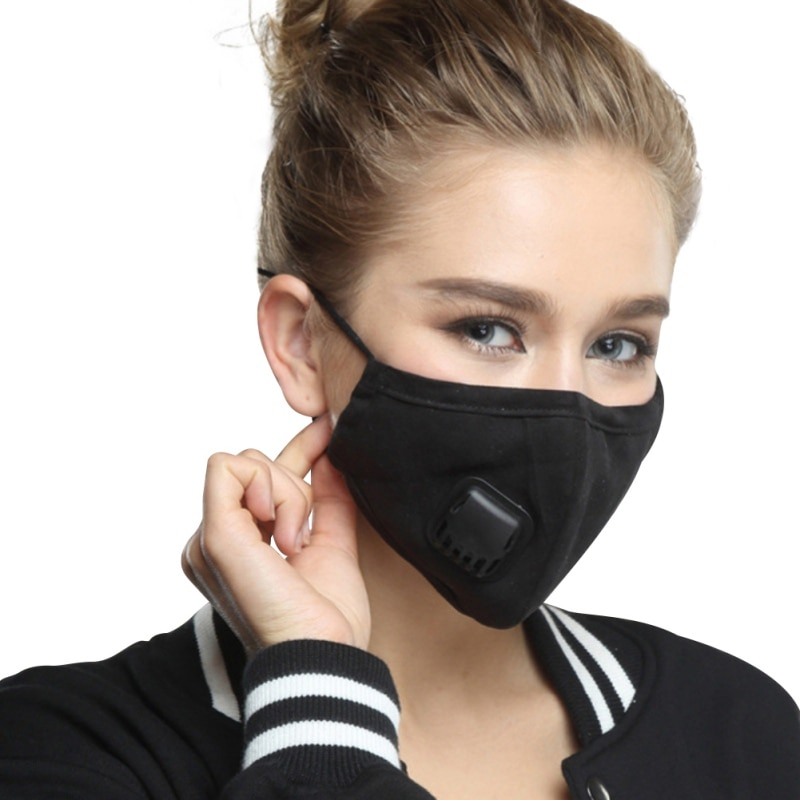 Cotton Face Mask With Filters Activated Carbon Filter Pm2.5 Mask Dust Respirator Reusable Masks 2