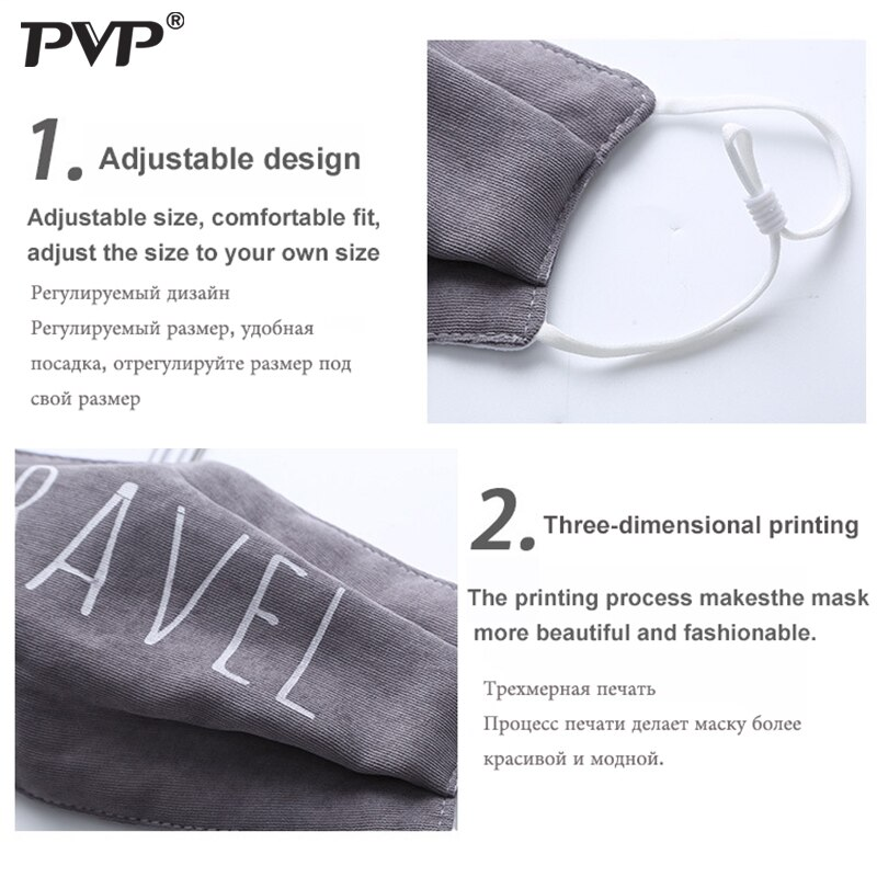 Fashion Face Mouth Mask Anti Dust Mask Filter Windproof Mouth Face Masks Care Reusable mask for men cotton face mask Washable 2