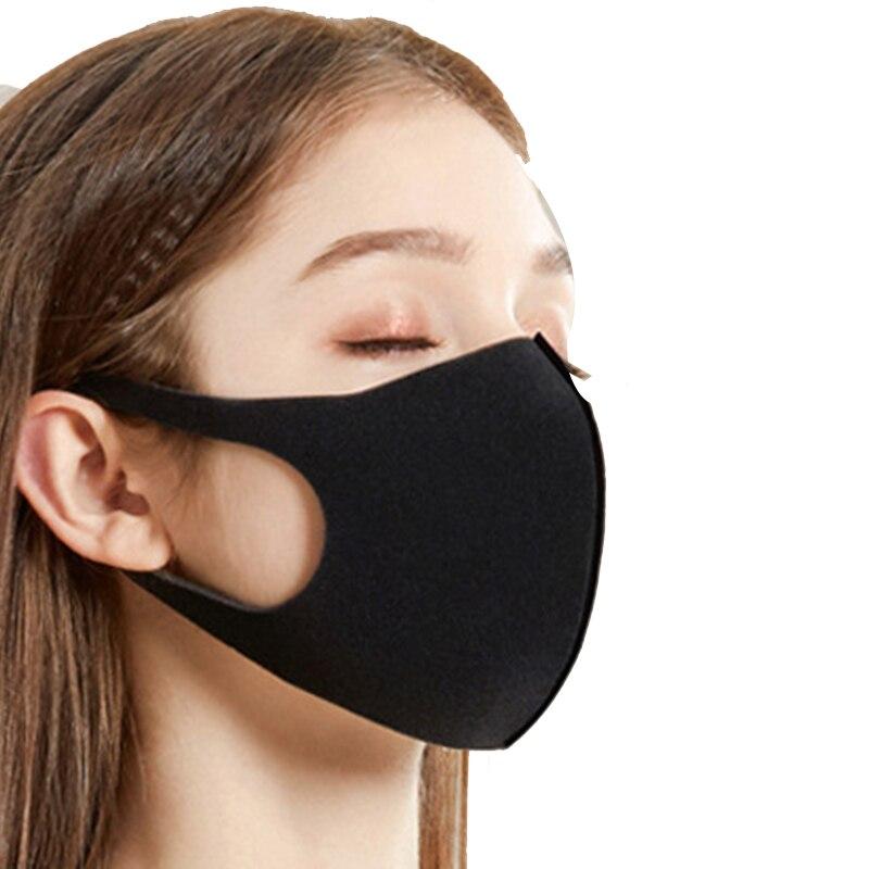 Unisex Face Mask Dust Mask Anti Air Pollution Dust Mask Unisex Mouth Mask,Washable and Reusable Black Cotton Face Mask 6Pcs Blac 3