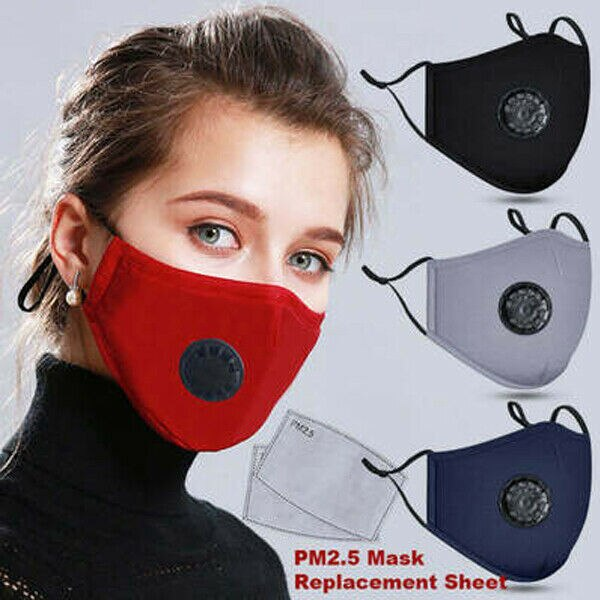 1Pcs Cotton Face Mask Breath PM 2.5 Valve Mouth Mask Anti-dust Activated Carbon Mask With Filter-Washable Reusable respirator 2