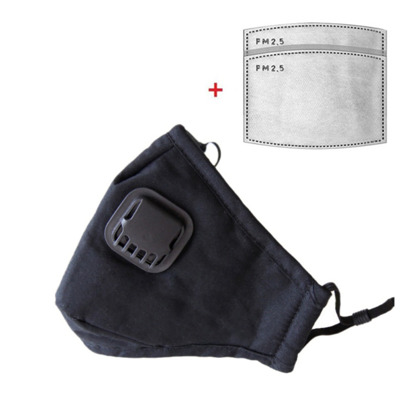 Cotton Face Mask With Filters Activated Carbon Filter Pm2.5 Mask Dust Respirator Reusable Masks 3