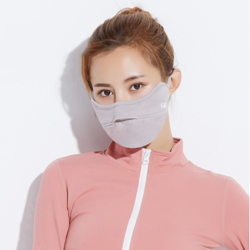 Unisex Reusable Face Mask Canbe Nose Exposed Design Anti Dust Smog Cold Proof Mouth Mask Breathable Washable Breathing Protector 2