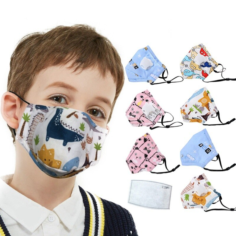 Health Care PM2.5 Children Mask With Breath Design Replaceable Filter Anti Dust Mouth Mask Respirator Kids Face Mask 1