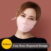 Canbe Nostril Uncovered Design Anti Mud Smog Chilly Proof Mouth Unisex Reusable Face Masks Canbe Nostril Uncovered Design Anti Mud Smog Chilly Proof Mouth Masks Breathable Washable Respiration Protector