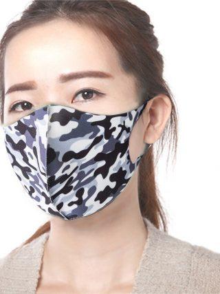 3Pcs Washable Reusable Anti-dust Mouth Face Masks Camouflage Sponge Mask Anti Cold Mask Humanized Design
