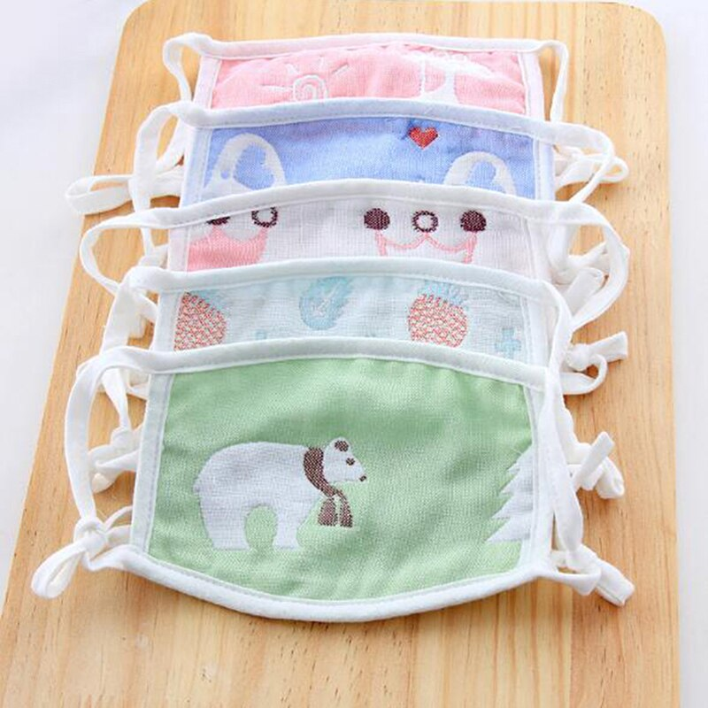 1pcs Cartoon Cute Design Mouth Face Mask For Kids Anti-Dust Non-disposable Fabric Masks With Respiration 2