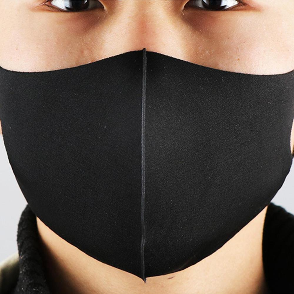 In Stock Reusable Mouth Mask 4 color Washable Dustproof Breathable Super Soft Fashion Design Women Men Solid Ice Silk Face Mask 2