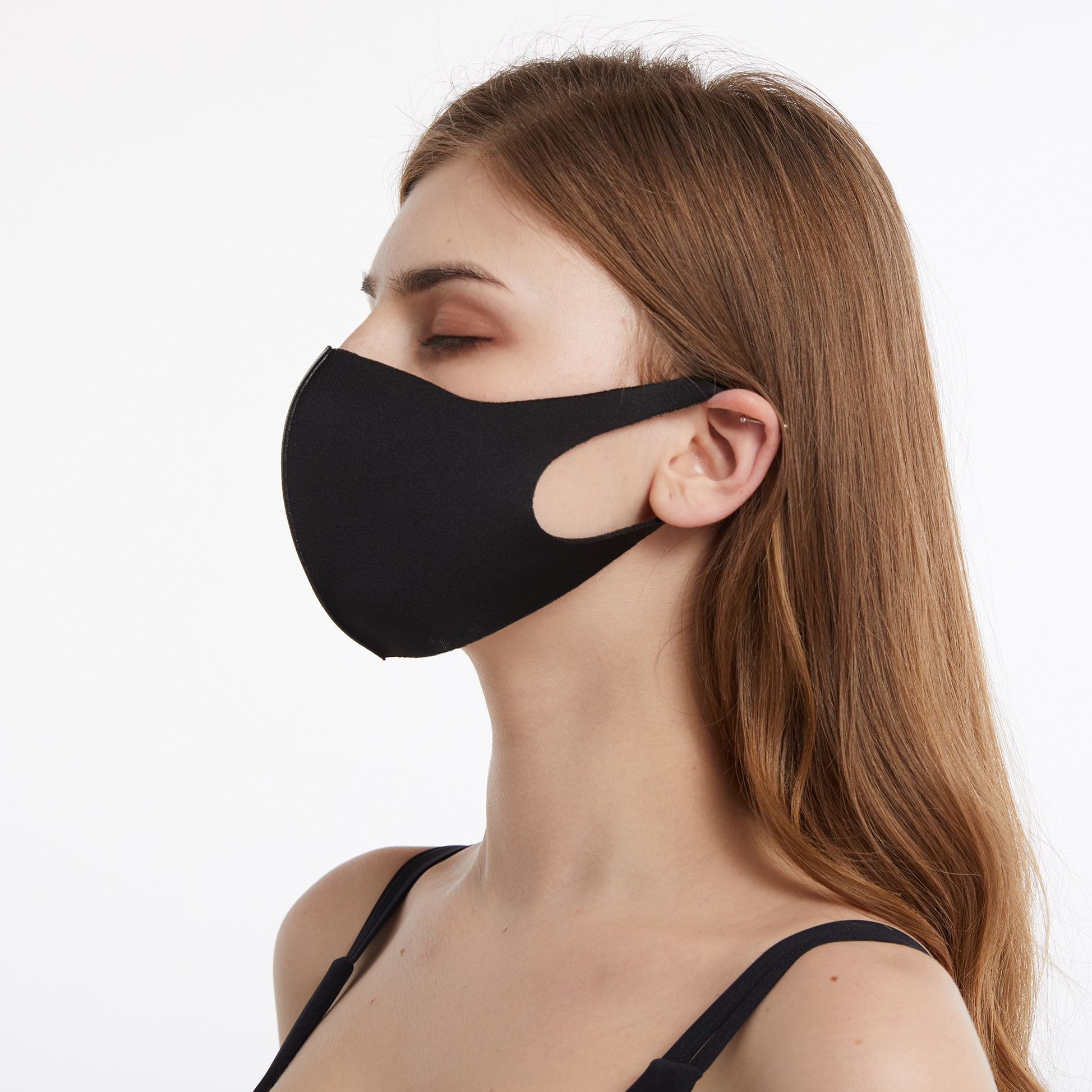 Washable Dust Proof Black Face Mask Breathable Super Soft Fashion Design Windproof Mouth-muffle Reusable Face Masks 3
