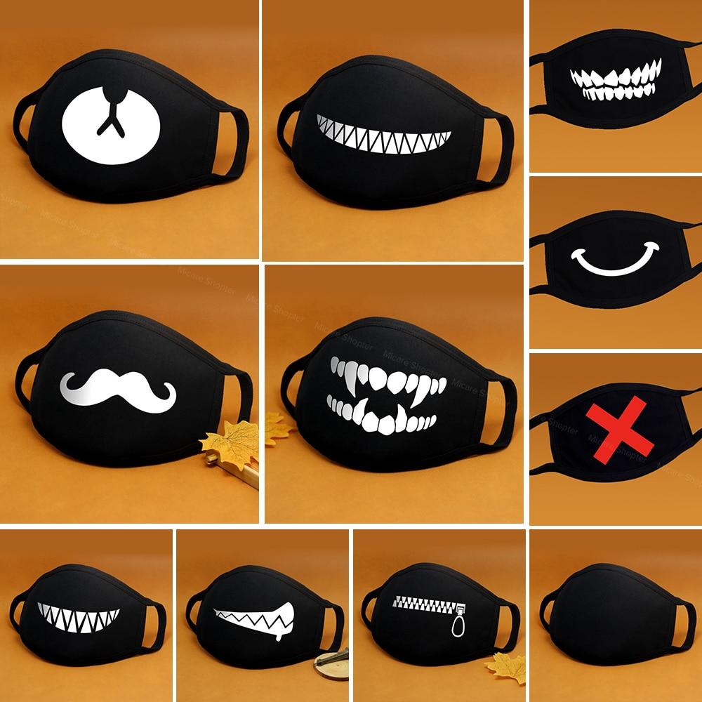 Cartoon Cotton Face Mask Mouth Black Anti-Dust Anti Pollution Respirator Mask Fashion Cute Bear Kpop Animal Face Mouth Masks 1