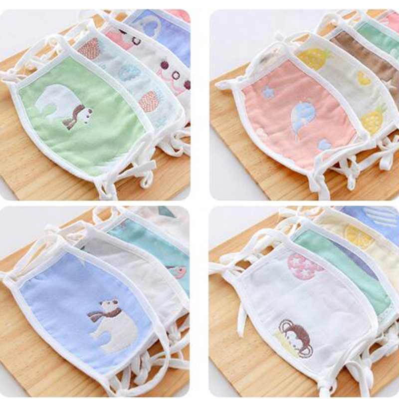 1pcs Cartoon Cute Design Mouth Face Mask For Kids Anti-Dust Non-disposable Fabric Masks With Respiration 3