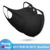 Black Blue PM2.5 Cotton Face Mask with a Filter Mouth Mask Breathing Valve Black Blue PM2.5 Cotton Face Masks with a Filter Mouth Masks Respiratory Valve