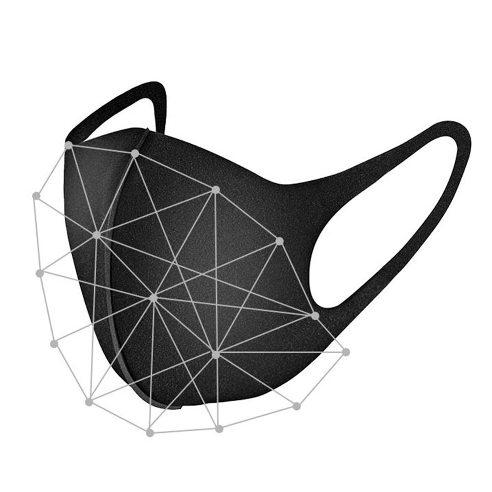 3 Pcs 3D Cotton Face Mask Breathable Black Mouth Mask Daily Protection Dustproof Anti Outdoor Sport Pollution Washable Reusable 2