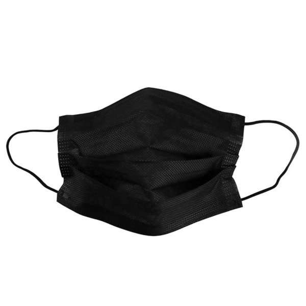 50pcs/100pcs Disposable Face Mouth Mask High efficiency filtration adjustable 3D fitting design Light and breathable black