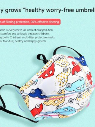 Children Dust Mask PM2.5 Print Breath Design Replaceable Filter Anti Dust Valve Filter Washable Mask Respirator Kids Face Mask