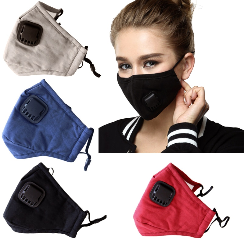Cotton Face Mask With Filters Activated Carbon Filter Pm2.5 Mask Dust Respirator Reusable Masks 1