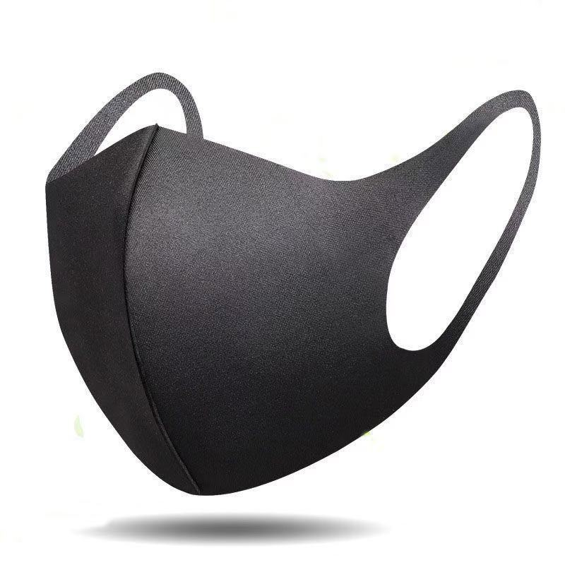 Washable Dust Proof Black Face Mask Breathable Super Soft Fashion Design Windproof Mouth-muffle Reusable Face Masks 1