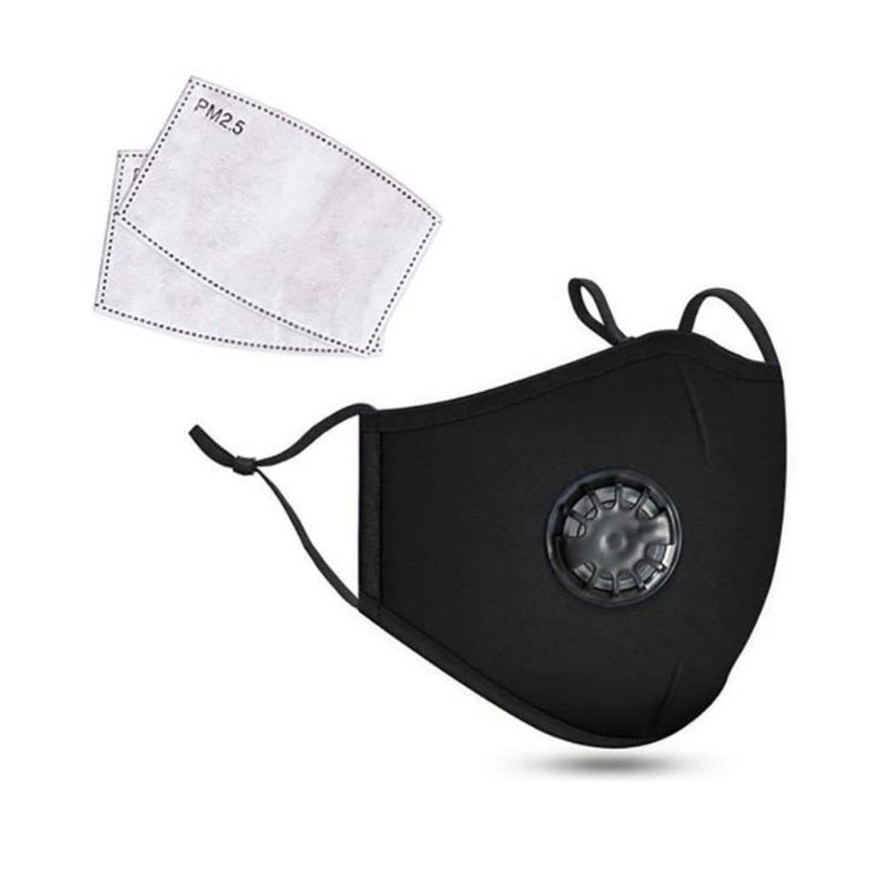 Adult PM2.5 Reusable Cotton Face Mask with Activated Carbon Filter Insert Mouth Mask Anti Dust Mouth-muffle Bacteria Proof Masks 2