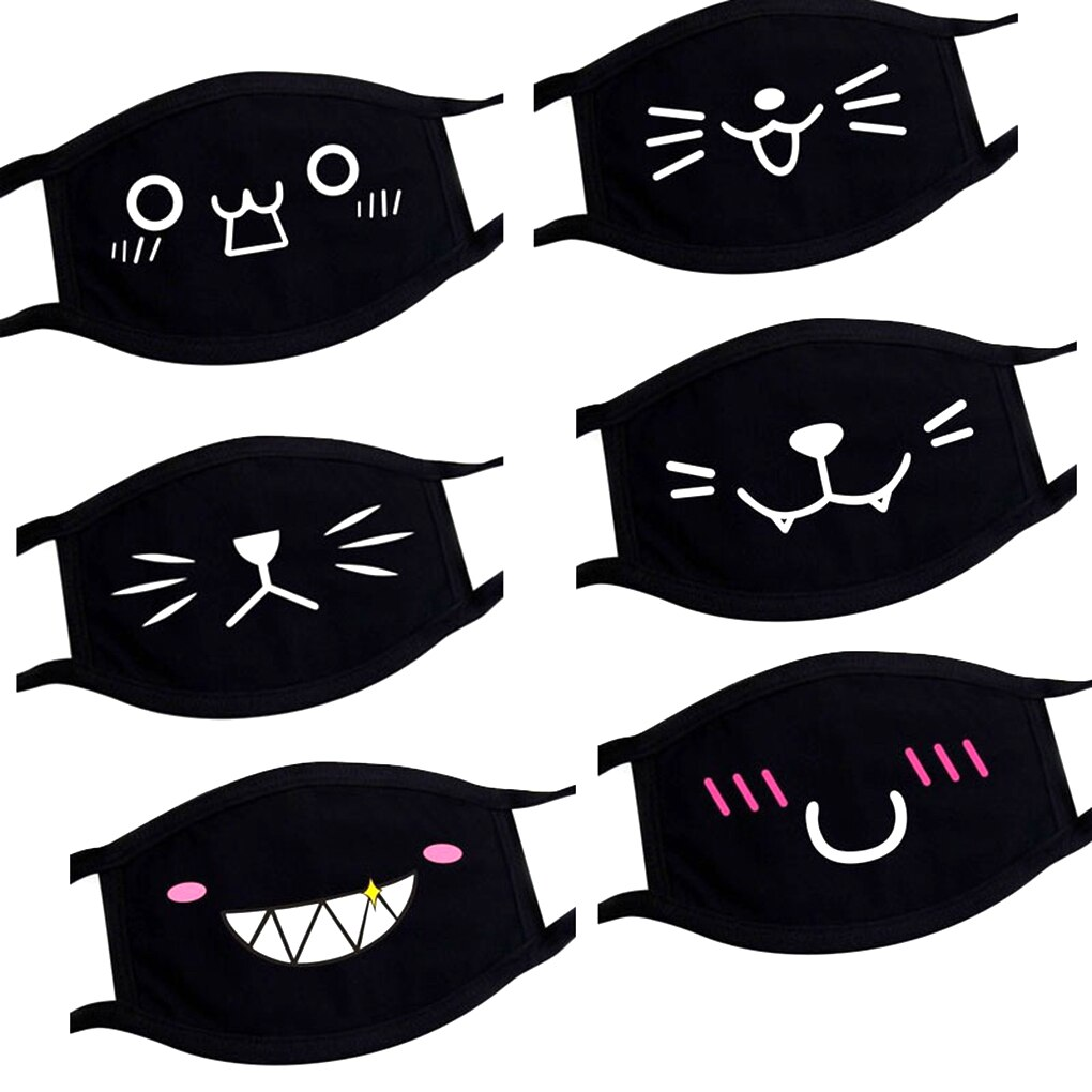 Eco-friendly Non-woven Face mask Cartoon Print Design Dual Layer Filter Soft Breathable Anti-dust Mouth Mask