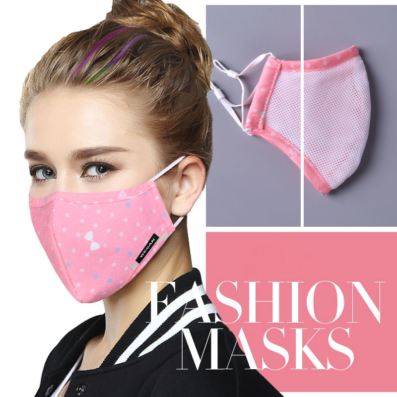 Dust Mask Breathable Unisex Cotton Face Mask Reusable Anti Pollution Face Shield Wind Proof Mouth Cover Activated carbon filter 2