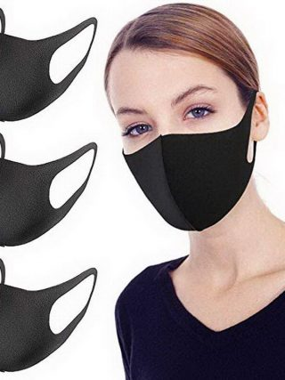 Black Anti dust Mouth Mask Unisex Soft Cotton Face Mask Muffle Mask Anime Mask for Cycling Camping Travel