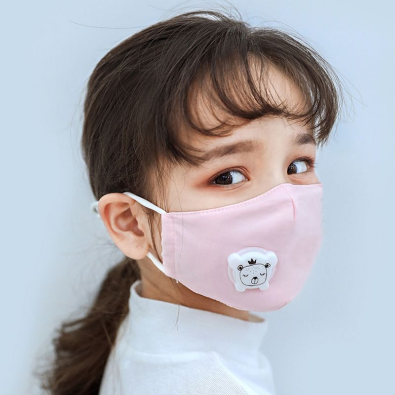 Anti PM2.5 Children Face Mask With Breathing Design Cotton 3-layer Outdoor Anti-dust Mask Kids Protective Mask 1