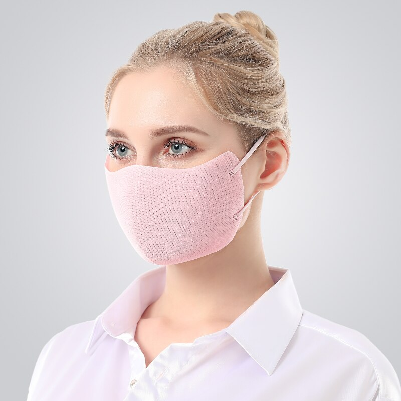 Fashion Breathable Mesh Mouth Mask Anti-Dust Sun Protection 3D Seamless Design Face Mask Women Prevent Saliva Cross Infection 2