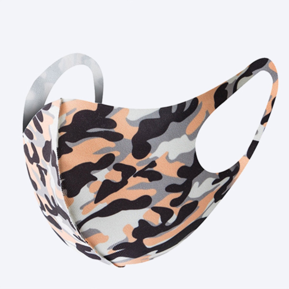 3Pcs Face Mask Washable Reusable Anti-dust Mouth Face Masks Camouflage Sponge Mask Anti Cold Mask Humanized Design 1