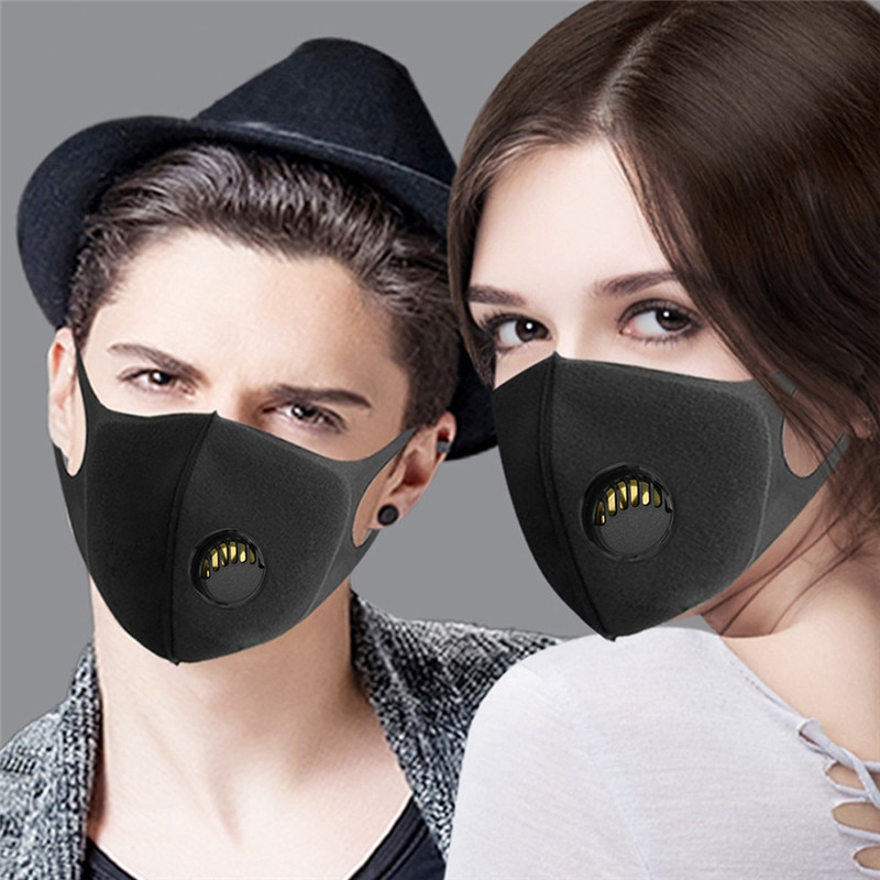 In Stock Reusable Mouth Mask Face Mask Washable Dust Proof Black Face Mask Breathable Super Soft Fashion Design Anti Dust Mask