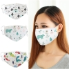 4pcs Reusable Cotton Face Mask Washable Dustproof Mouth Masks Adjustable Strings Cartoon Masks For Men Women Anti Dust Cover