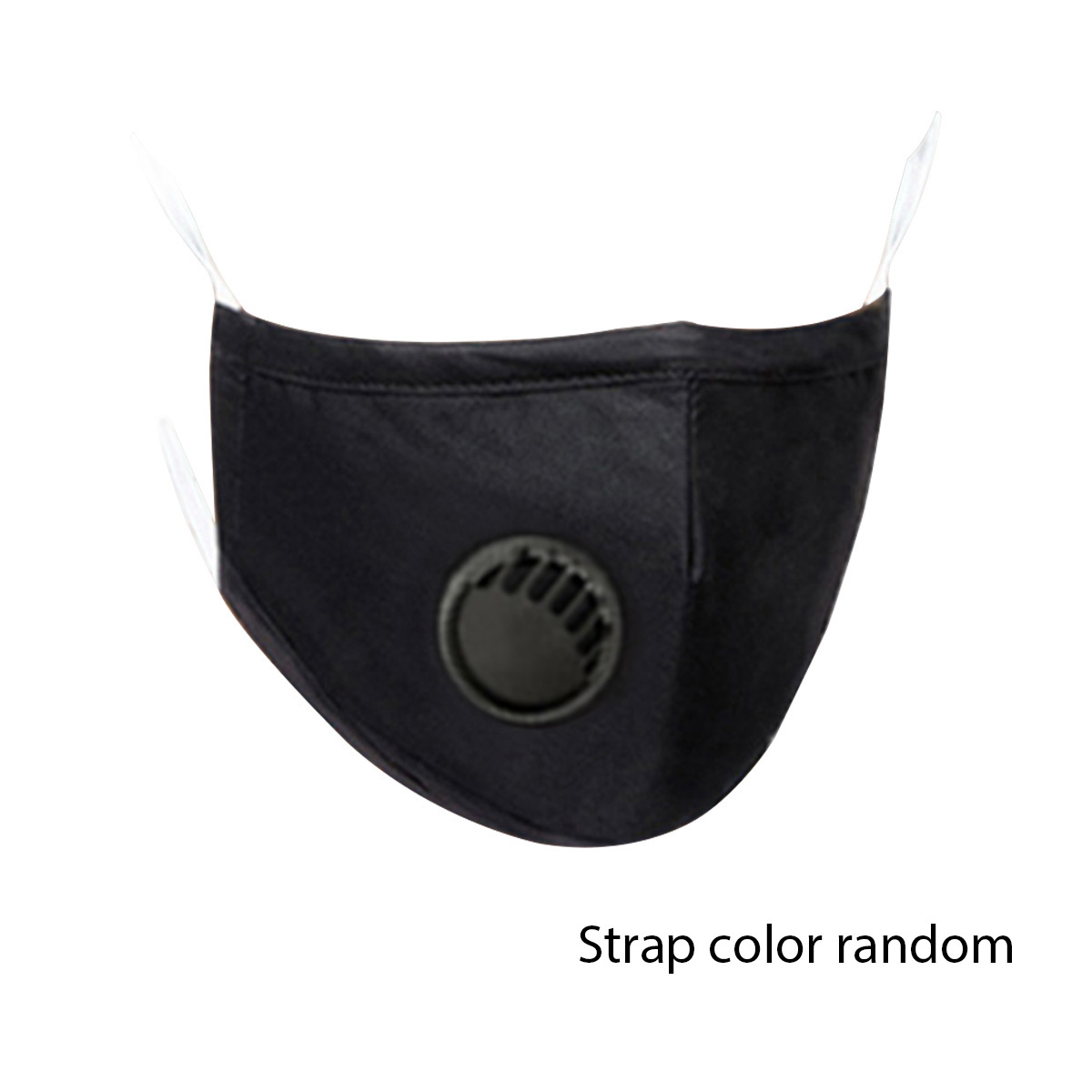 Black Blue PM2.5 Cotton Face Mask with a Filter Mouth Mask Breathing Valve 2