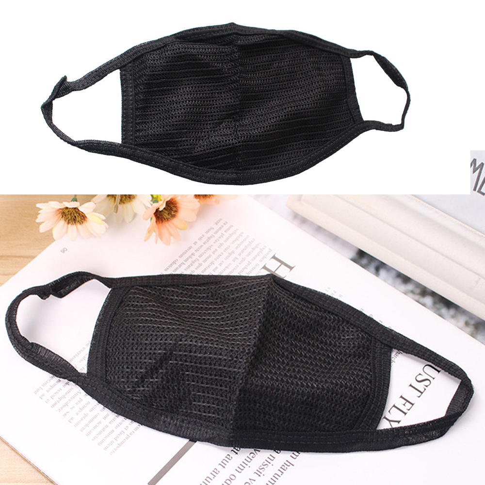 3PCS Anti-dust Mouth Masks Washable Reusable Cotton Face Mask Respirator Black Mouth-muffle Dustproof Face Cover 3