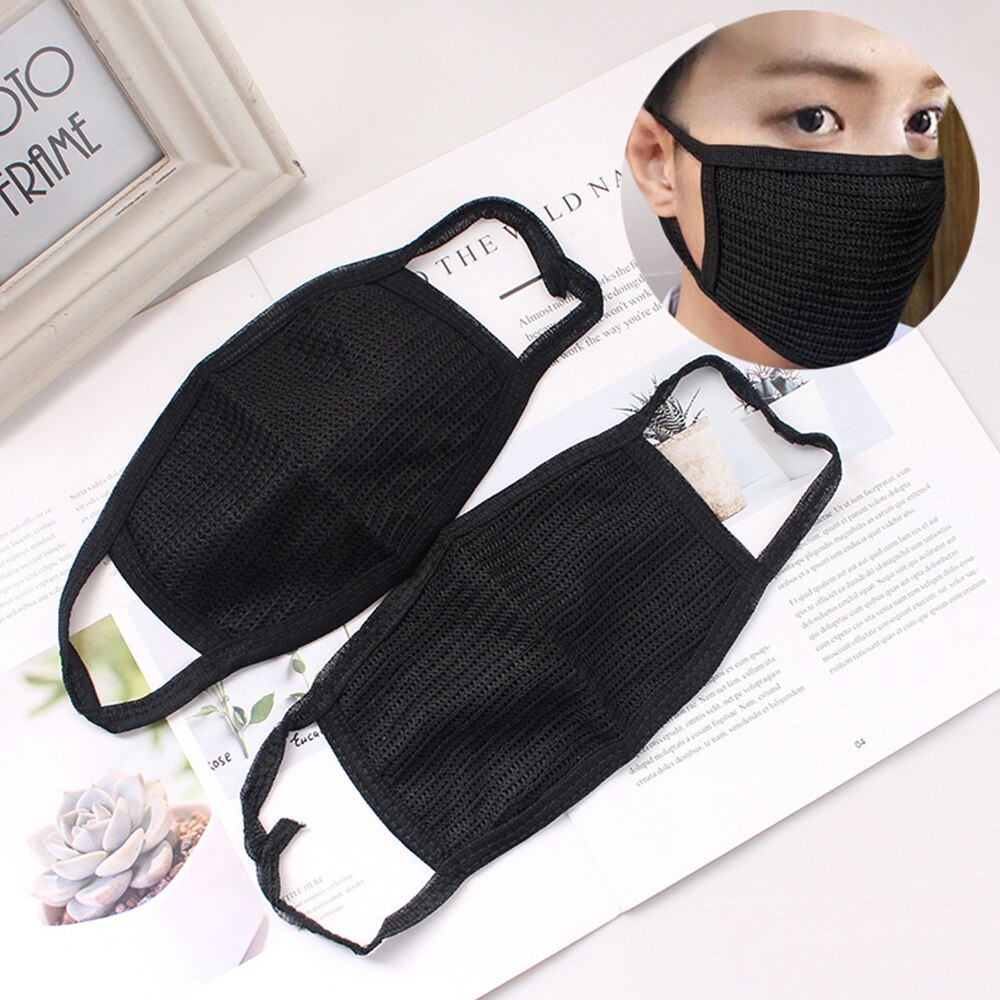 3PCS Anti-dust Mouth Masks Washable Reusable Cotton Face Mask Respirator Black Mouth-muffle Dustproof Face Cover 2