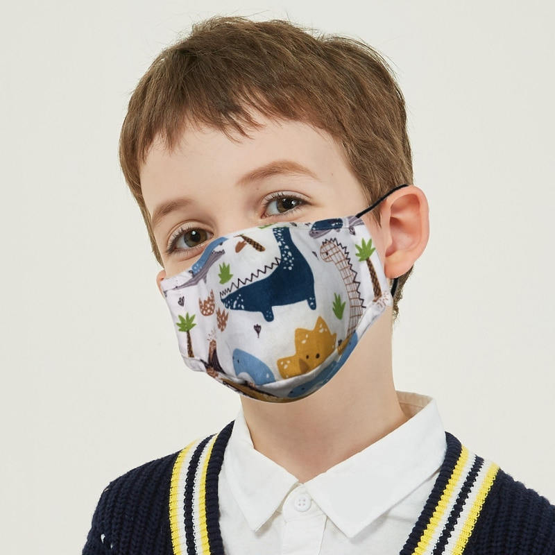 Children Mouth Mask With Breath Design Replaceable Filter Anti Dust Mouth Mask PM2.5 Respirator Kids Face Mask 2