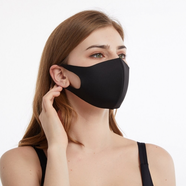 Washable Dust Proof Black Face Mask Breathable Super Soft Fashion Design Windproof Mouth-muffle Reusable Face Masks