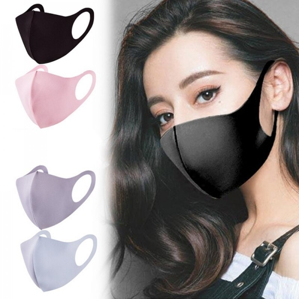 Spring Summer Washable Ice Silk Cotton Face Mask Air Pollution Sun UV Protection Anti Flu Dust Breathable Cool Outdoor Mask