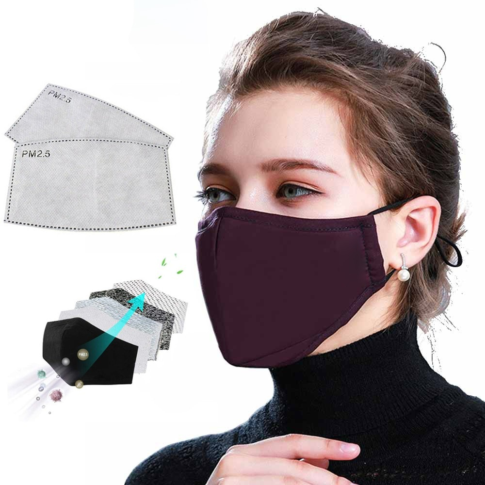 Dust Mask Cotton Face Mask PM2.5 Activated Carbon Mask Washable And Reusable Lot Antivirus And Antibacterial 1