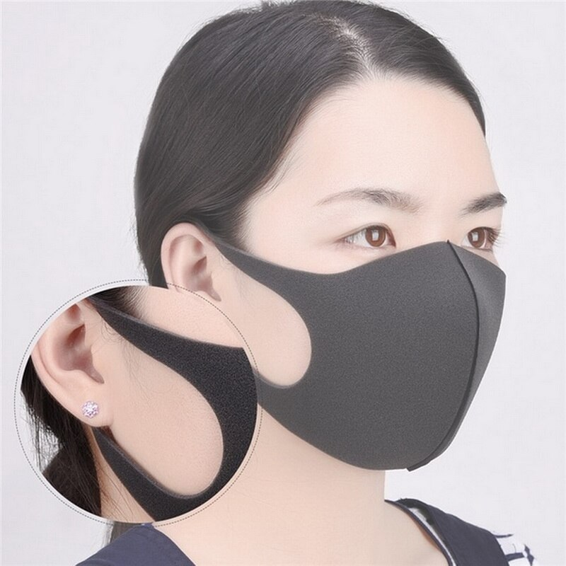 Black Anti dust Mouth Mask Unisex Soft Cotton Face Mask Muffle Mask Anime Mask for Cycling Camping Travel 3