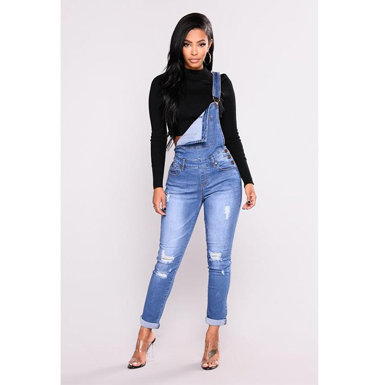 Jeans for Women with High Waist Slim Fit Skinny Overalls Woman Casual Streetwear Pencil Denim Overalls Plus Size 1