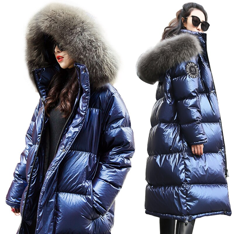 Women Down Jacket 2020 New Winter Coat big Real Fur Collar Women Long Paragraph Thickening Warm Hooded For Female Parka YRF14 1