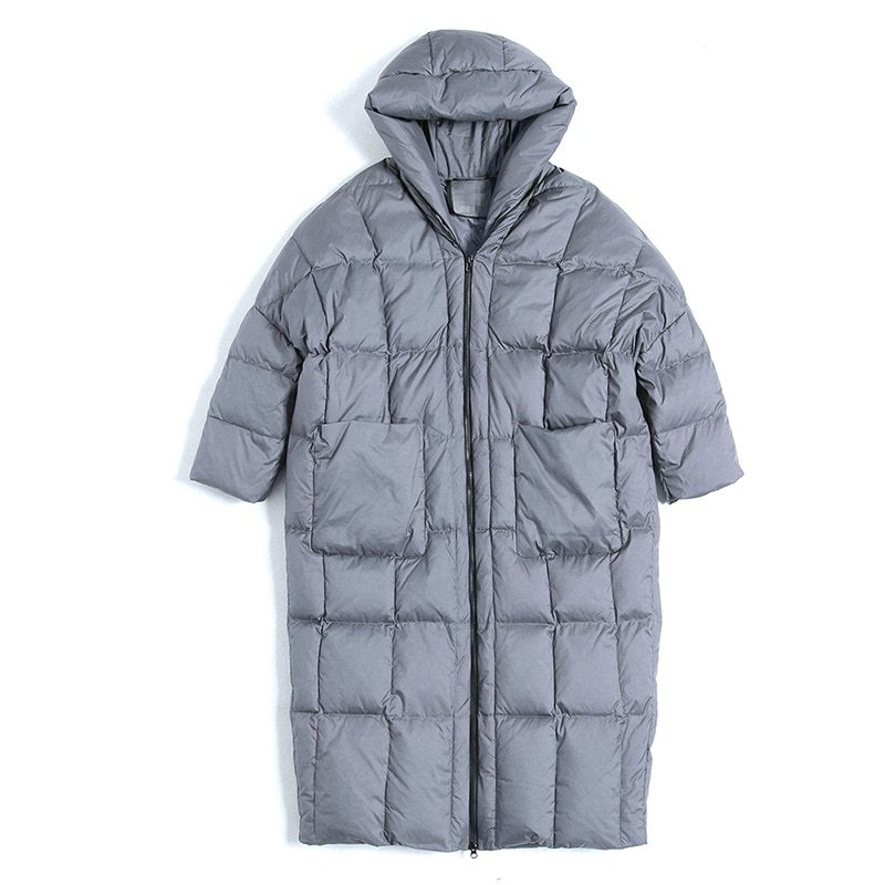 2020 Winter casual loose Cocoon Jacket Thick&Long sleeve hooded with Parkas winter women down jacket S-7XL big pocket 4