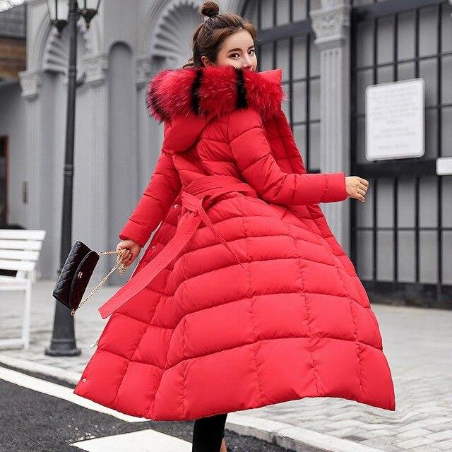 Winter women down jacket female coat 2020 new thick warm long down coat female outerwear fashion hooded winter jacket women 4