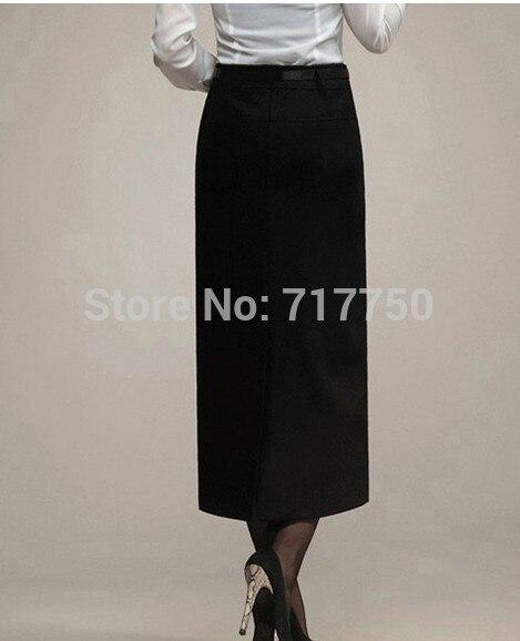 Autumn Winter Skirt Women Long Skirt Thick High Waist Pencil Skirt Ladies Elegant Slim Plus Size Woolen Skirts Women XS – 5XL 4