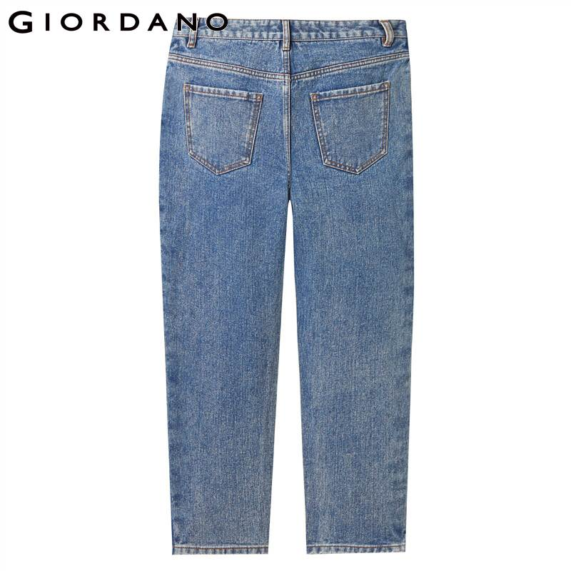 Giordano Women Jeans Mid Rise Straight Ankle-length Denim Jeans Slant Pockets Casual Calca Jeans Feminina 05429313 2