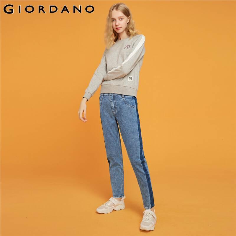 Giordano Women Jeans Mid Rise Straight Ankle-length Denim Jeans Slant Pockets Casual Calca Jeans Feminina 05429313 4