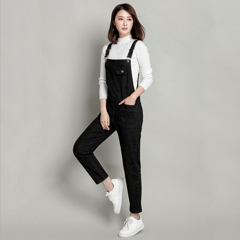 2018 Jeans Fashion loose Plus Size S-3XL&4XL&5XL Pants Women Pencil pants Overalls Jumpsuit And Rompers Denim Trousers L95 1