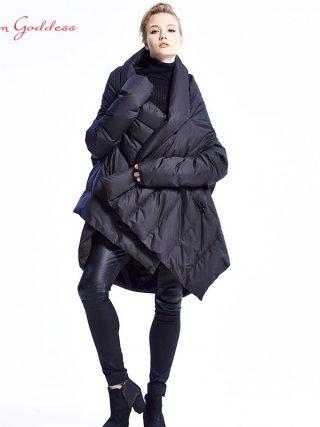 Ladies's Down Jacket Uneven Size Winter Coat